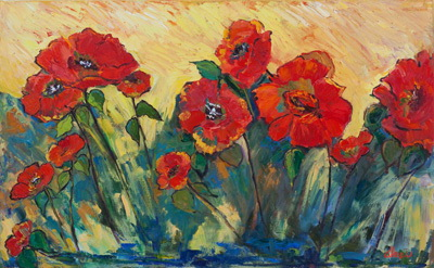 Flamboyant Poppies 30x48