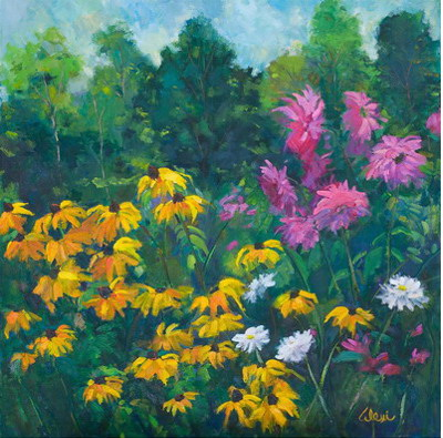 Giverny Gardens 36x36