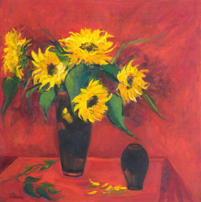 Holiday Sunflowers 30x30