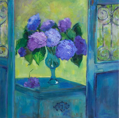 Hydrangea Behind The Gate 30x30
