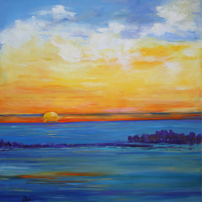 Independence Day Sunset 48x48