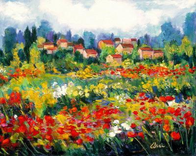 Italian Poppy Field 24x30