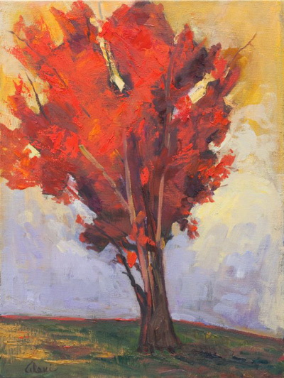 Red Tree 18x24