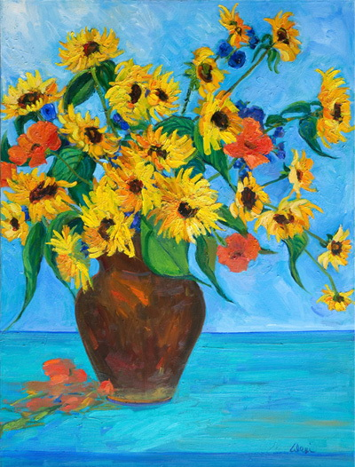 Something About Sun Flowers 30x40