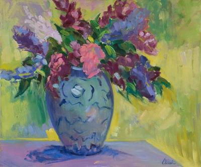 Springtime Lilacs 24x20