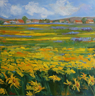 Sunflower Field 36x36