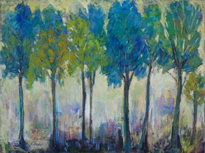 Teal Tree 36x48