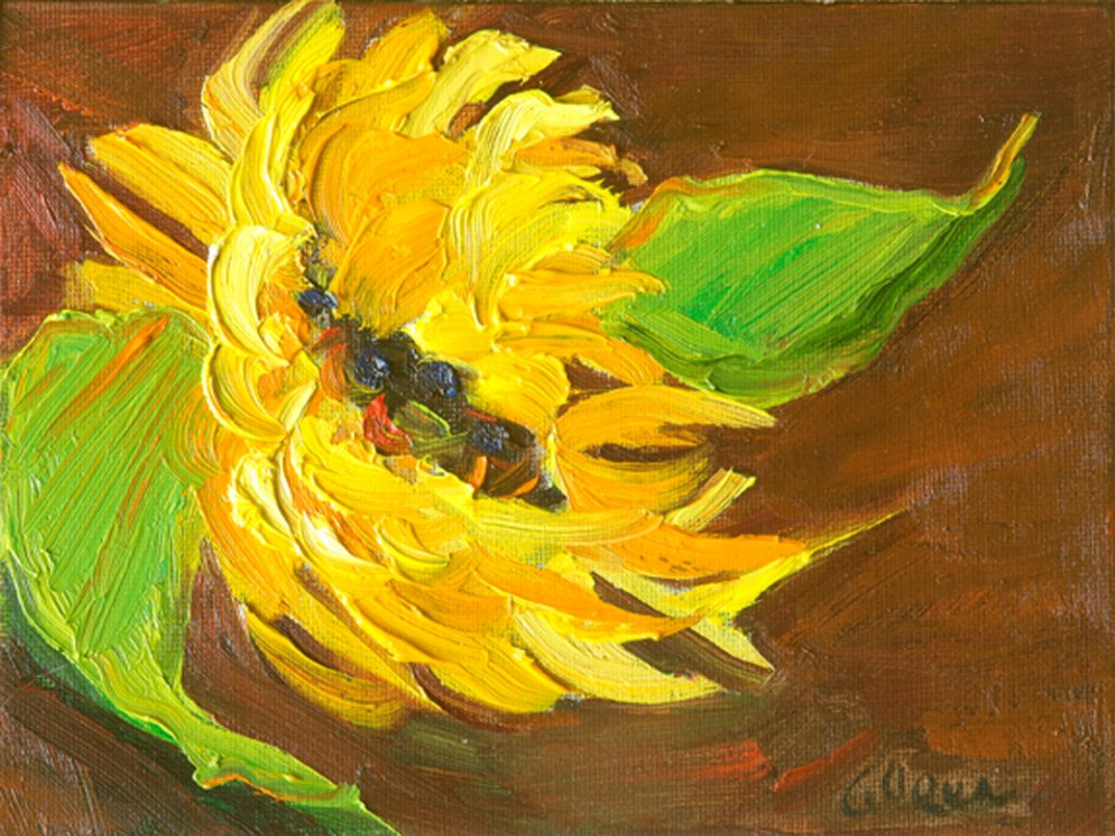 Soulful Sunflower 6x8