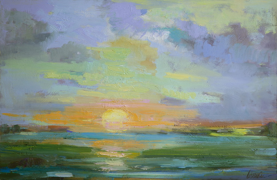 Sherbet Sunset 19x28