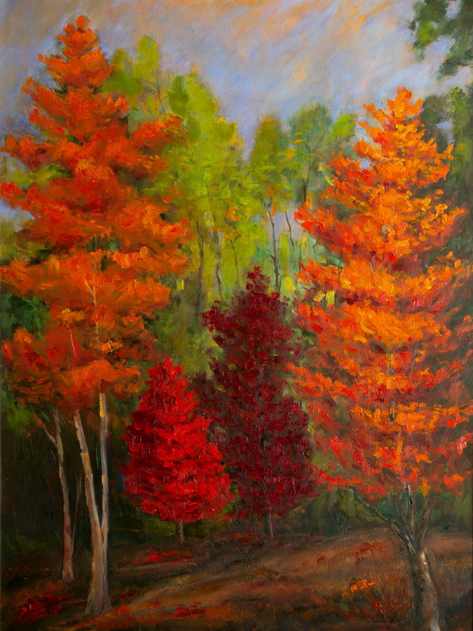 Flaming Leaves 36x48