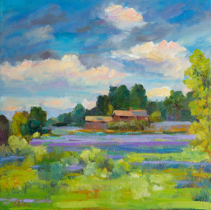 Lavender Countryside 24x24