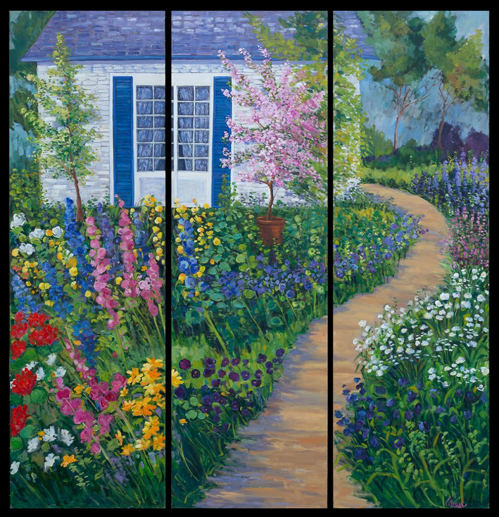 Spring Has Sprung Triptych 80x24 Ea