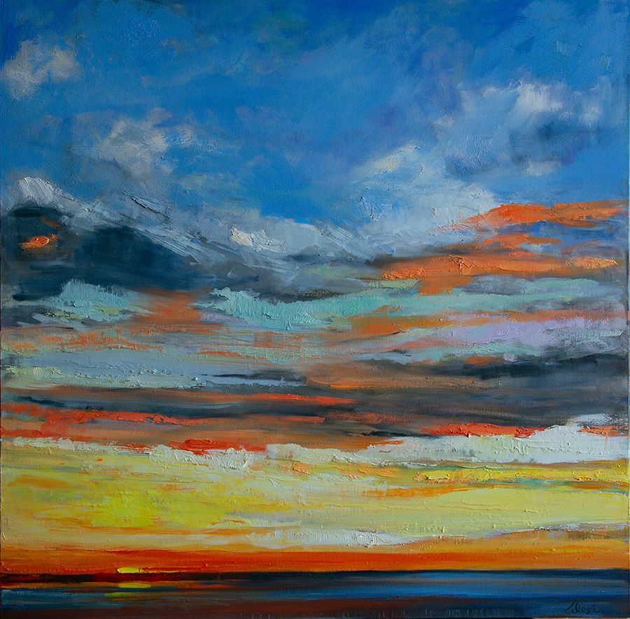 Hermosa Beach Sunset 36x36