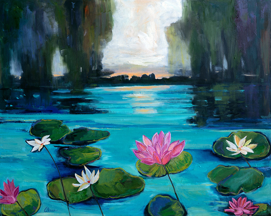 Lovely Lily Pad 40x50